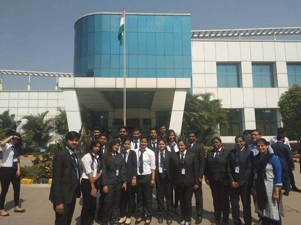 Students of IPS visited Lumax Industries Ltd